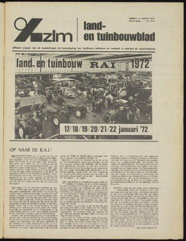 Zeeuwsch landbouwblad ... ZLM land- en tuinbouwblad 1972-01-14