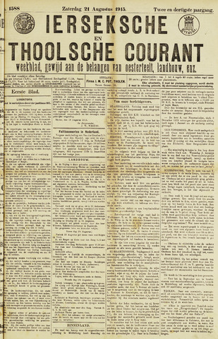 Ierseksche en Thoolsche Courant 1915-08-21