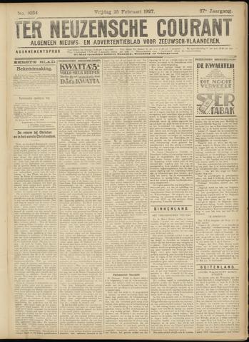 Ter Neuzensche Courant. Algemeen Nieuws- en Advertentieblad voor Zeeuwsch-Vlaanderen / Neuzensche Courant ... (idem) / (Algemeen) nieuws en advertentieblad voor Zeeuwsch-Vlaanderen 1927-02-25