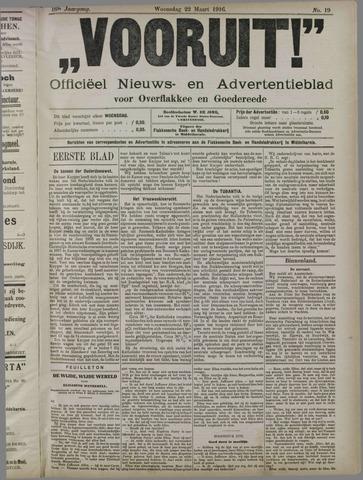 """""""Vooruit!""""Officieel Nieuws- en Advertentieblad voor Overflakkee en Goedereede 1916-03-22"""
