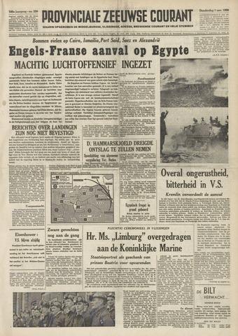 Provinciale Zeeuwse Courant 1956-11-01