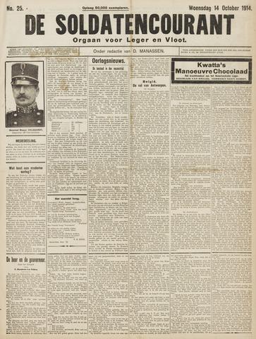 De Soldatencourant. Orgaan voor Leger en Vloot 1914-10-14