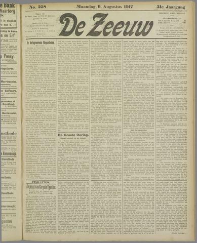 De Zeeuw. Christelijk-historisch nieuwsblad voor Zeeland 1917-08-06