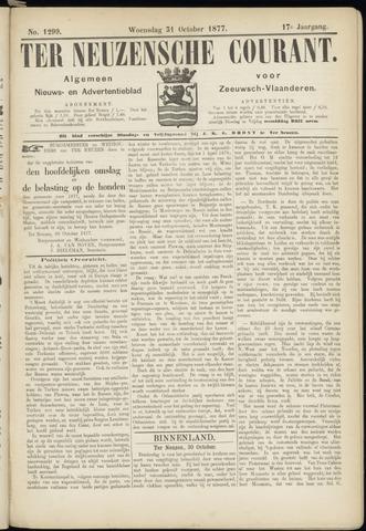 Ter Neuzensche Courant. Algemeen Nieuws- en Advertentieblad voor Zeeuwsch-Vlaanderen / Neuzensche Courant ... (idem) / (Algemeen) nieuws en advertentieblad voor Zeeuwsch-Vlaanderen 1877-10-31