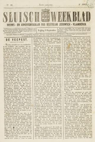 Sluisch Weekblad. Nieuws- en advertentieblad voor Westelijk Zeeuwsch-Vlaanderen 1865-09-08