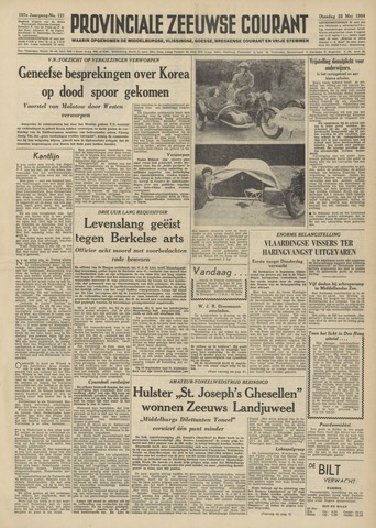 Provinciale Zeeuwse Courant 1954-05-25