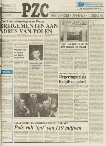 Provinciale Zeeuwse Courant 1981-04-07