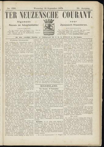 Ter Neuzensche Courant. Algemeen Nieuws- en Advertentieblad voor Zeeuwsch-Vlaanderen / Neuzensche Courant ... (idem) / (Algemeen) nieuws en advertentieblad voor Zeeuwsch-Vlaanderen 1878-09-18