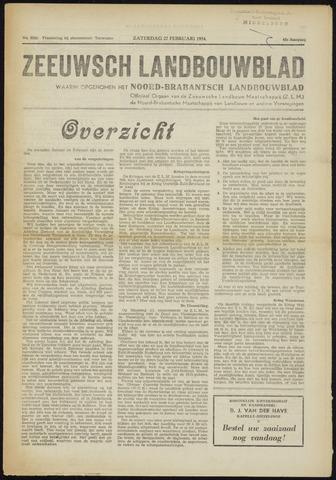 Zeeuwsch landbouwblad ... ZLM land- en tuinbouwblad 1954-02-27