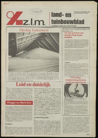 Zeeuwsch landbouwblad ... ZLM land- en tuinbouwblad 1981-11-27