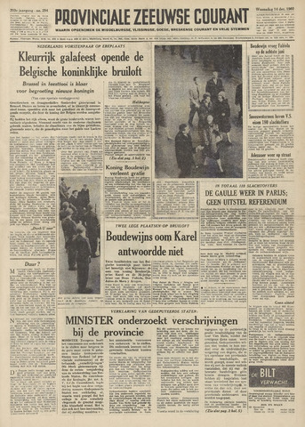 Provinciale Zeeuwse Courant 1960-12-14