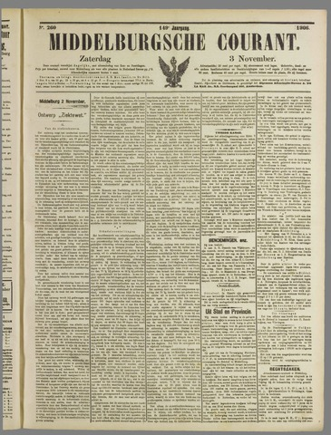 Middelburgsche Courant 1906-11-03