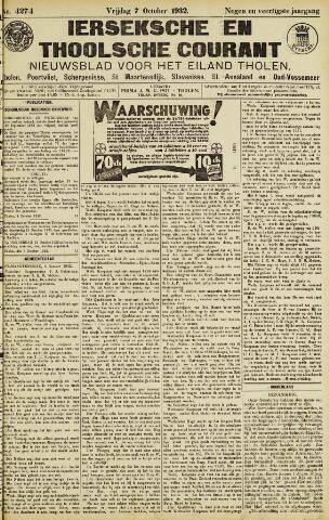Ierseksche en Thoolsche Courant 1932-10-07