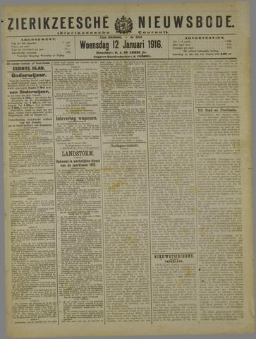 Zierikzeesche Nieuwsbode 1916-01-12