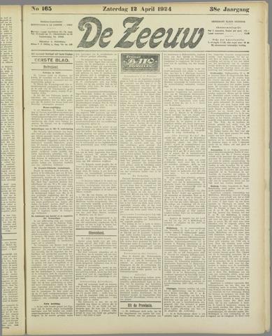 De Zeeuw. Christelijk-historisch nieuwsblad voor Zeeland 1924-04-12