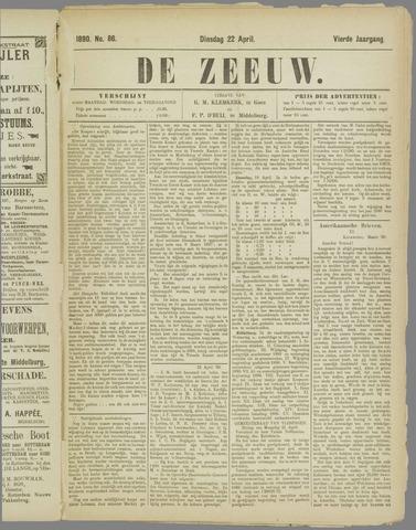 De Zeeuw. Christelijk-historisch nieuwsblad voor Zeeland 1890-04-22