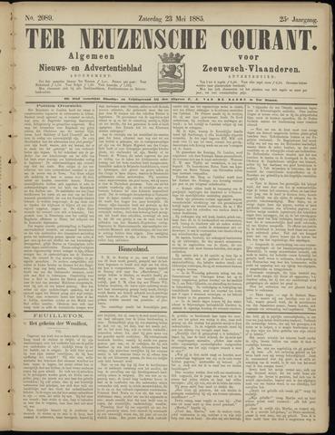 Ter Neuzensche Courant. Algemeen Nieuws- en Advertentieblad voor Zeeuwsch-Vlaanderen / Neuzensche Courant ... (idem) / (Algemeen) nieuws en advertentieblad voor Zeeuwsch-Vlaanderen 1885-05-23