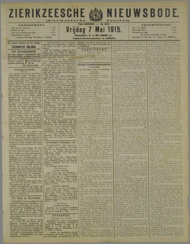 Zierikzeesche Nieuwsbode 1915-05-07