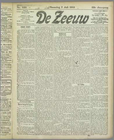 De Zeeuw. Christelijk-historisch nieuwsblad voor Zeeland 1919-07-07