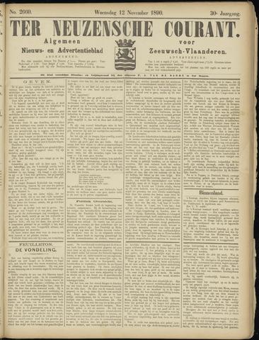Ter Neuzensche Courant. Algemeen Nieuws- en Advertentieblad voor Zeeuwsch-Vlaanderen / Neuzensche Courant ... (idem) / (Algemeen) nieuws en advertentieblad voor Zeeuwsch-Vlaanderen 1890-11-12