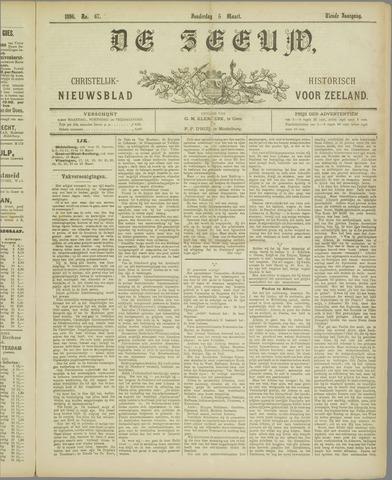 De Zeeuw. Christelijk-historisch nieuwsblad voor Zeeland 1896-03-05
