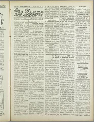 De Zeeuw. Christelijk-historisch nieuwsblad voor Zeeland 1943-12-14