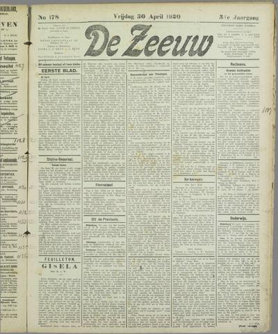 De Zeeuw. Christelijk-historisch nieuwsblad voor Zeeland 1920-04-30