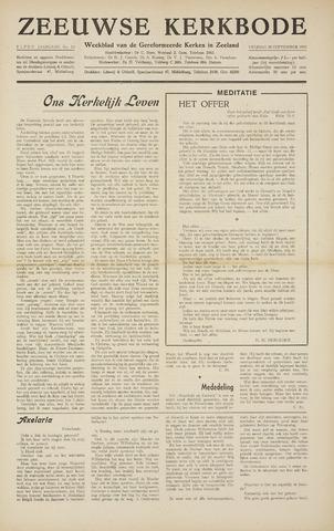 Zeeuwsche kerkbode, weekblad gewijd aan de belangen der gereformeerde kerken/ Zeeuwsch kerkblad 1955-09-30