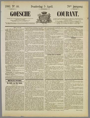 Goessche Courant 1883-04-05