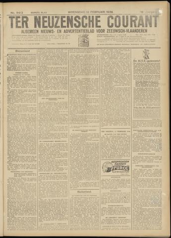Ter Neuzensche Courant. Algemeen Nieuws- en Advertentieblad voor Zeeuwsch-Vlaanderen / Neuzensche Courant ... (idem) / (Algemeen) nieuws en advertentieblad voor Zeeuwsch-Vlaanderen 1936-02-12