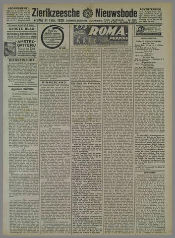 Zierikzeesche Nieuwsbode 1930-02-21