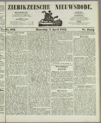 Zierikzeesche Nieuwsbode 1852-04-05