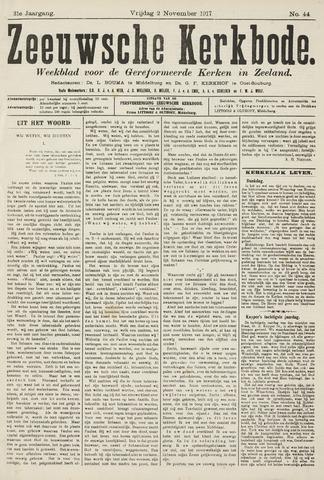 Zeeuwsche kerkbode, weekblad gewijd aan de belangen der gereformeerde kerken/ Zeeuwsch kerkblad 1917-11-02
