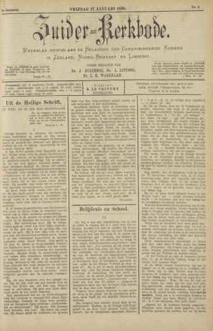 Zuider Kerkbode, Weekblad gewijd aan de belangen der gereformeerde kerken in Zeeland, Noord-Brabant en Limburg. 1899-01-27