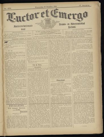 Luctor et Emergo. Antirevolutionair nieuws- en advertentieblad voor Zeeland / Zeeuwsch-Vlaanderen. Orgaan ter verspreiding van de christelijke beginselen in Zeeuwsch-Vlaanderen 1916-10-18