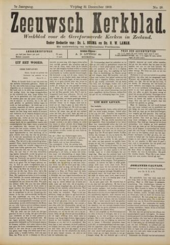 Zeeuwsche kerkbode, weekblad gewijd aan de belangen der gereformeerde kerken/ Zeeuwsch kerkblad 1909-12-31