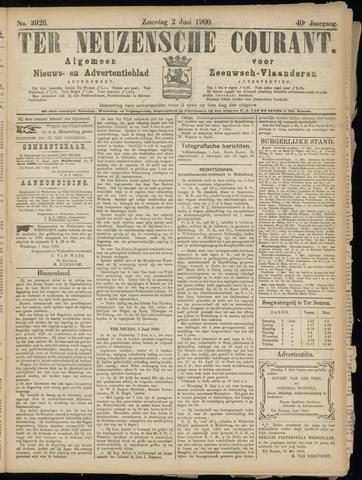 Ter Neuzensche Courant. Algemeen Nieuws- en Advertentieblad voor Zeeuwsch-Vlaanderen / Neuzensche Courant ... (idem) / (Algemeen) nieuws en advertentieblad voor Zeeuwsch-Vlaanderen 1900-06-02
