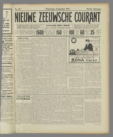 Nieuwe Zeeuwsche Courant 1914-01-22