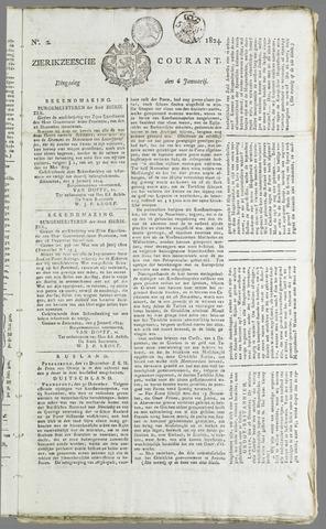 Zierikzeesche Courant 1824-01-06