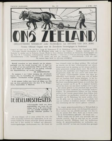 Ons Zeeland / Zeeuwsche editie 1927-04-09