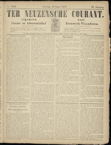 Ter Neuzensche Courant. Algemeen Nieuws- en Advertentieblad voor Zeeuwsch-Vlaanderen / Neuzensche Courant ... (idem) / (Algemeen) nieuws en advertentieblad voor Zeeuwsch-Vlaanderen 1883-03-10