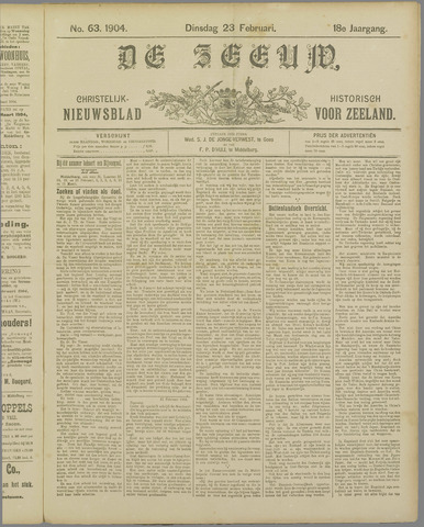 De Zeeuw. Christelijk-historisch nieuwsblad voor Zeeland 1904-02-23