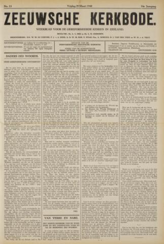 Zeeuwsche kerkbode, weekblad gewijd aan de belangen der gereformeerde kerken/ Zeeuwsch kerkblad 1940-03-29