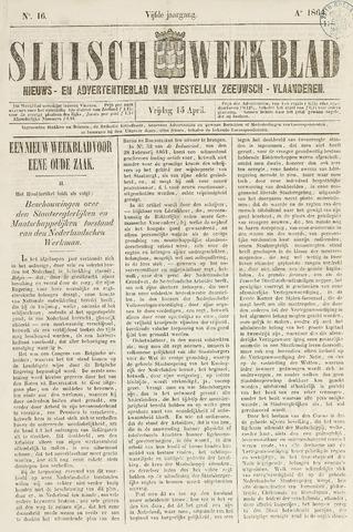 Sluisch Weekblad. Nieuws- en advertentieblad voor Westelijk Zeeuwsch-Vlaanderen 1864-04-15