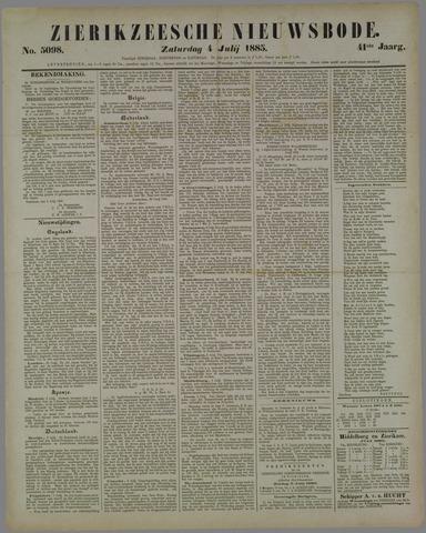 Zierikzeesche Nieuwsbode 1885-07-04