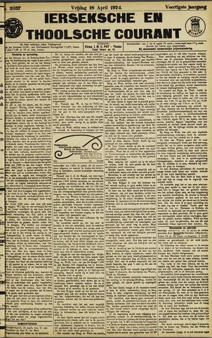 Ierseksche en Thoolsche Courant 1924-04-18
