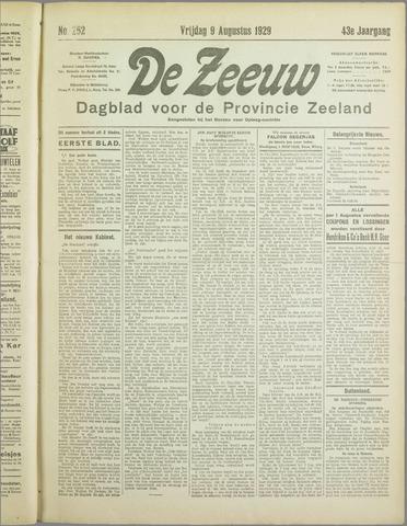 De Zeeuw. Christelijk-historisch nieuwsblad voor Zeeland 1929-08-09