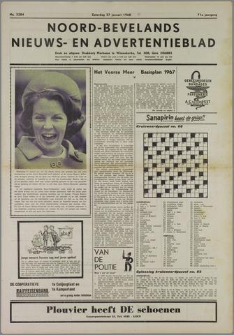 Noord-Bevelands Nieuws- en advertentieblad 1968-01-27