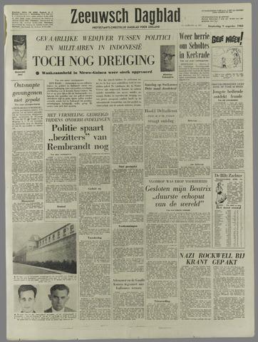 Zeeuwsch Dagblad 1962-08-09