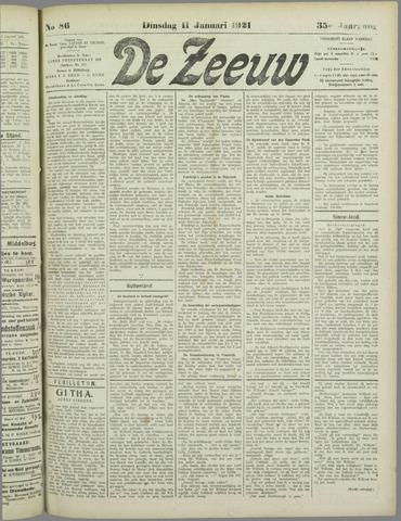 De Zeeuw. Christelijk-historisch nieuwsblad voor Zeeland 1921-01-11